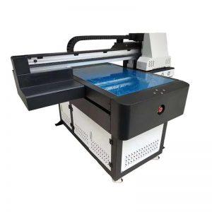 ए 1 यूवी प्रिंटर डिजिटल 6090 फ्लैटबेड यूवी छपाई मिसिन 3 डी प्रभाव / वार्निश मुद्रण संग