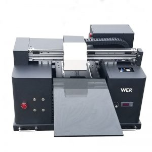 A4 size LY A42 digital automatic phone case UV led flatbed printer UV flatbed printer with 6 color printing WER-E1080UV