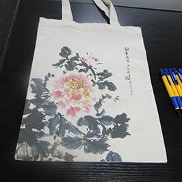 ए 2 टी-शर्ट मुद्रक WER-D4880T द्वारा कैनवास बैग मुद्रण नमूना