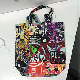 A1 डिजिटल कपडा मुद्रक WER-EP6090T द्वारा गैर बुना बैग मुद्रण नमूना