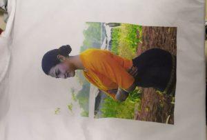 बर्मा क्लाइन्टको लागि WER-EP6090T प्रिन्टरबाट शर्ट मुद्रण नमूना